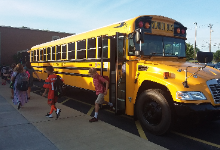 Students Exiting Bus Photo 2019-20