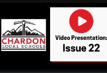 Video Presentation:  Issue 22 - Chardon Local Schools mountain axe logo