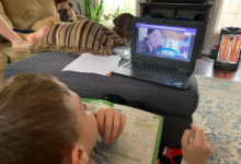Chardon Student engaged in Remote Learning - in Spring 2020
