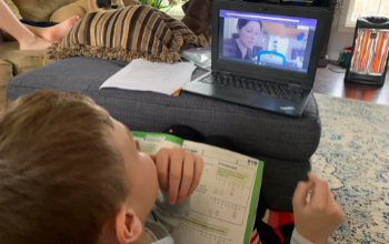 Chardon Student engaged in Remote Learning in Spring 2020