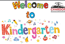 Kindergarten Presentation cover sheet