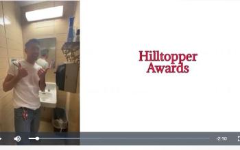 Mr. Prezioso in 1st slide of Hilltopper Awards 2nd Grading Quarter Video