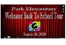 Park Elementary Welcome Back to School Tour video screenshot plus G-TV logo