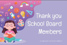 Thank You School Board Members slide graphic