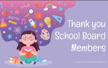 Thank You School Board Members slide graphic