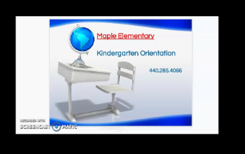 Screen Capture of Welcome to Kindergarten Screencast