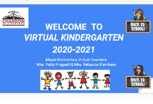 Slide 1 of Welcome to Virtual Kindergarten 2020-21 Presentation