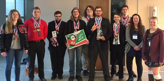 photo of CHS Academic Decathlon Team who are Division II Regional Champs!