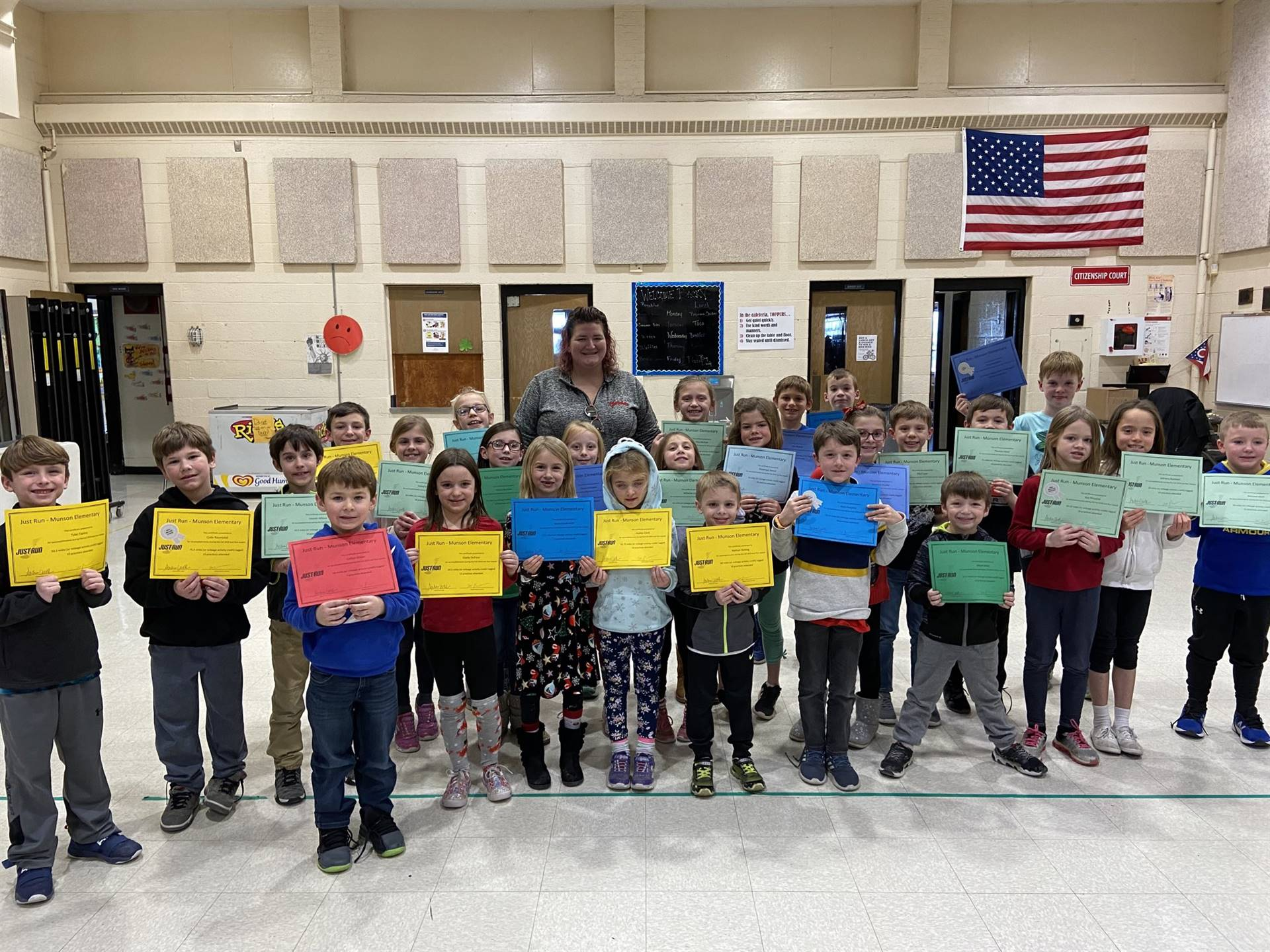 Recipients of Just Run Awards - Dec. 2019
