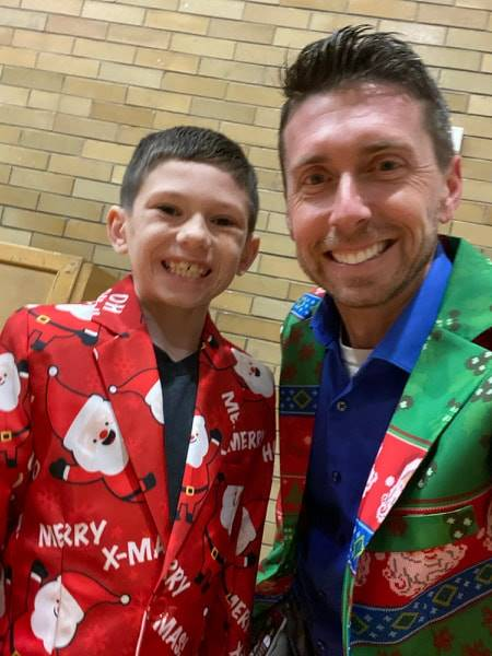 Brady Bunker and Mr. Prezioso - Holiday Singing Concert 2019