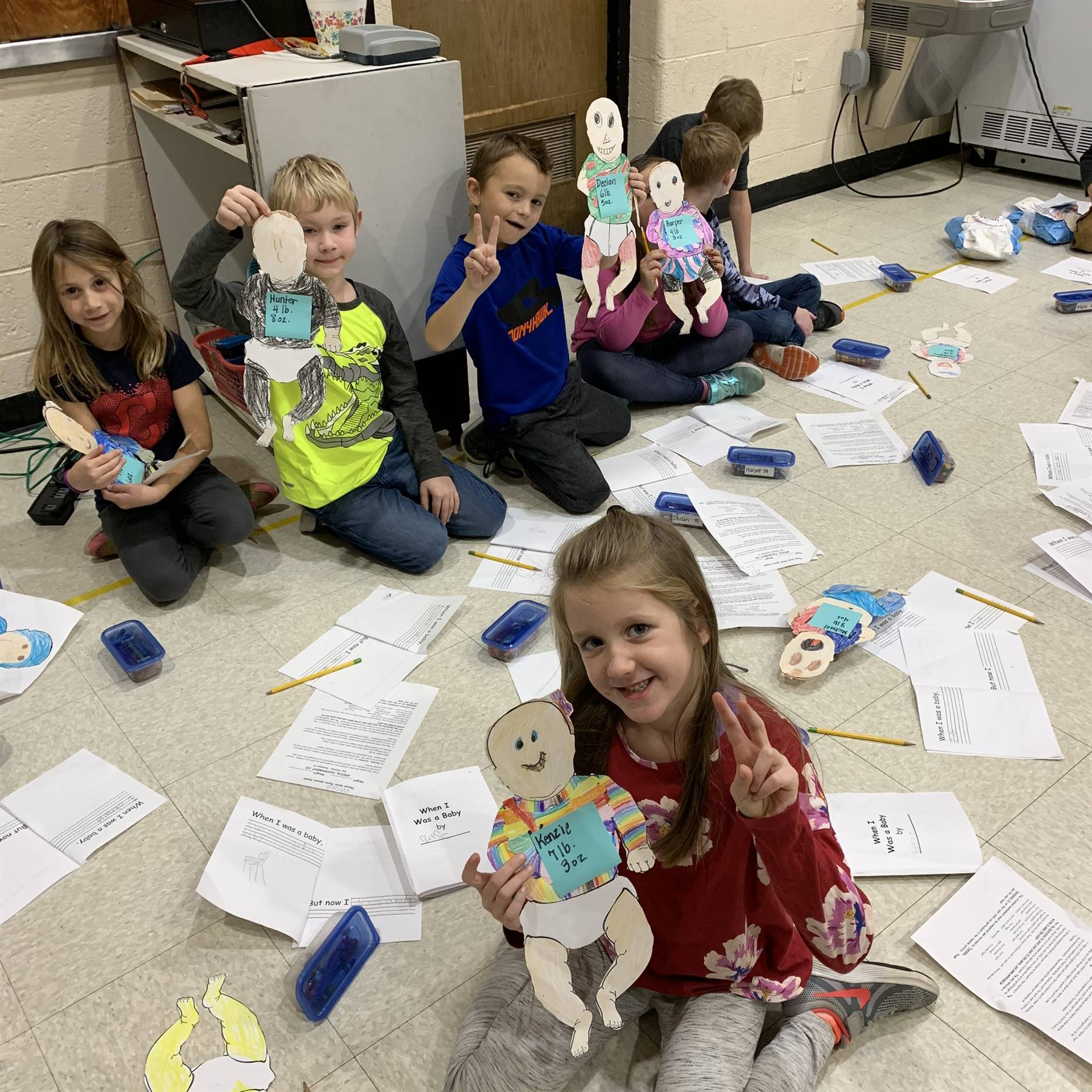 Mrs. McClintock's 1st-grade Sand Babies Project - Fall 2019