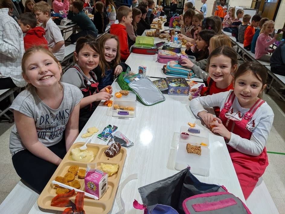 Students are All Smiles at Lunchtime - Feb. 2020