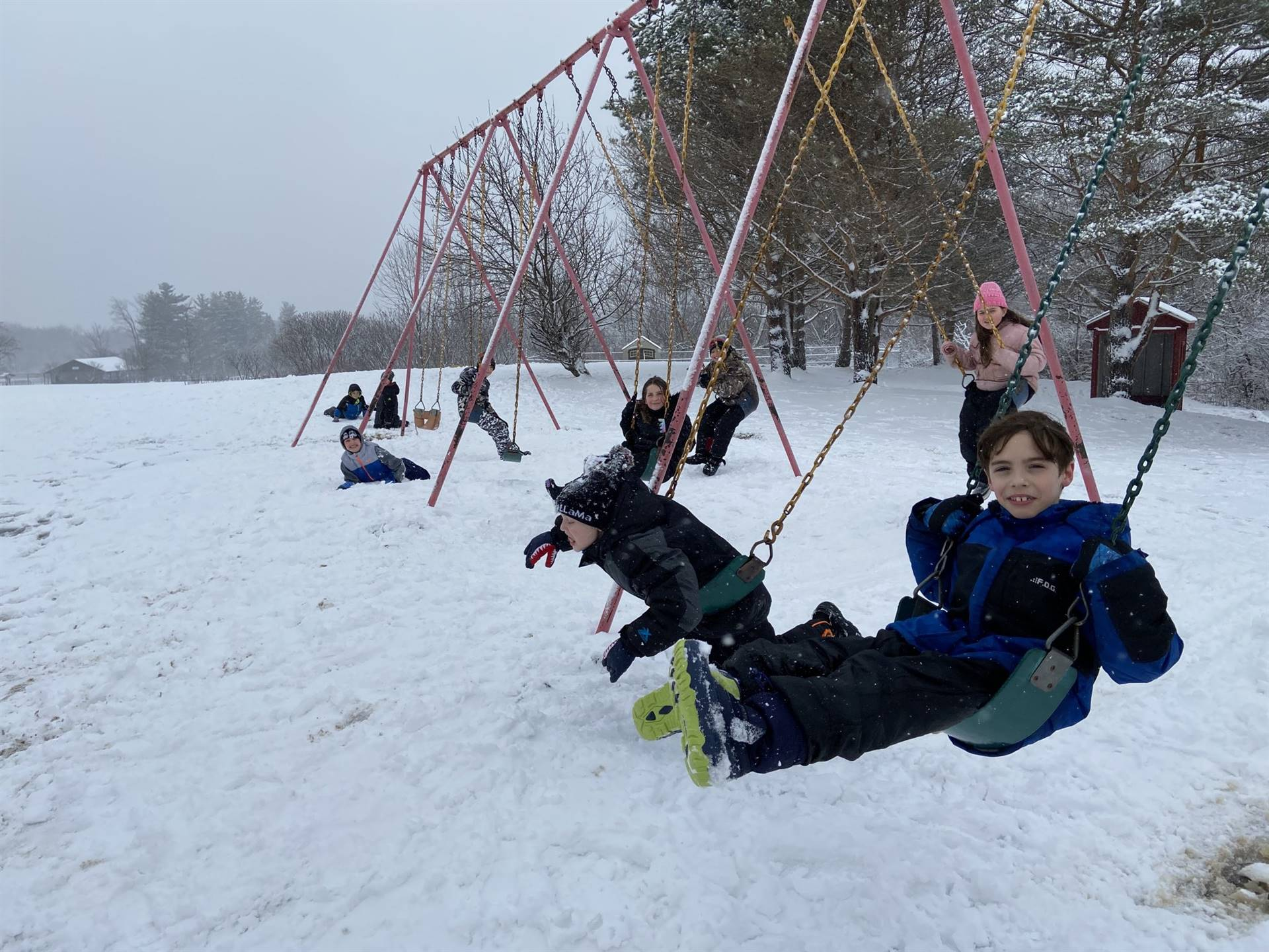 Munson Elementary Students at Recess - Jan. 2020