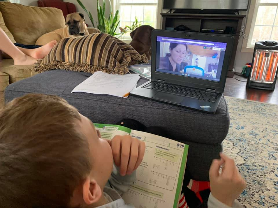 Photo A:  Student Engaged in Remote Learning - Spring 2020