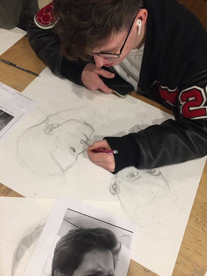 Chardon High School Student - Drawing Class