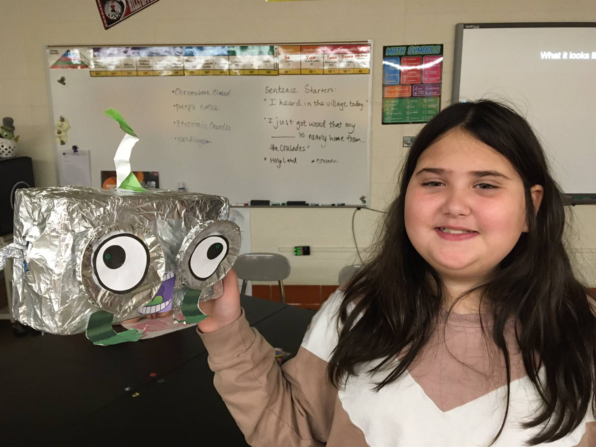 Chardon Middle School - Student Attending Creative Earth Party