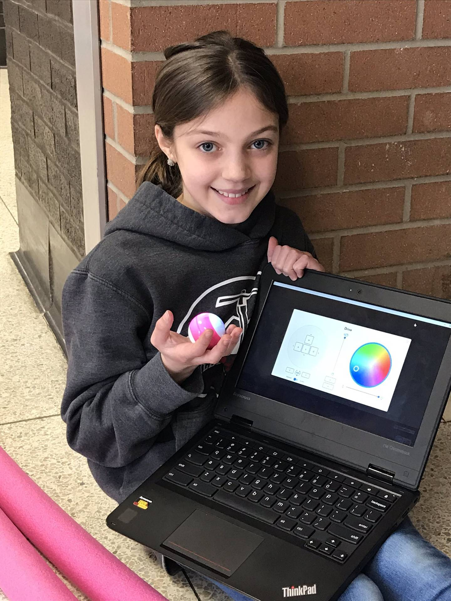 Chardon Middle School - Student Engaged with Spheros