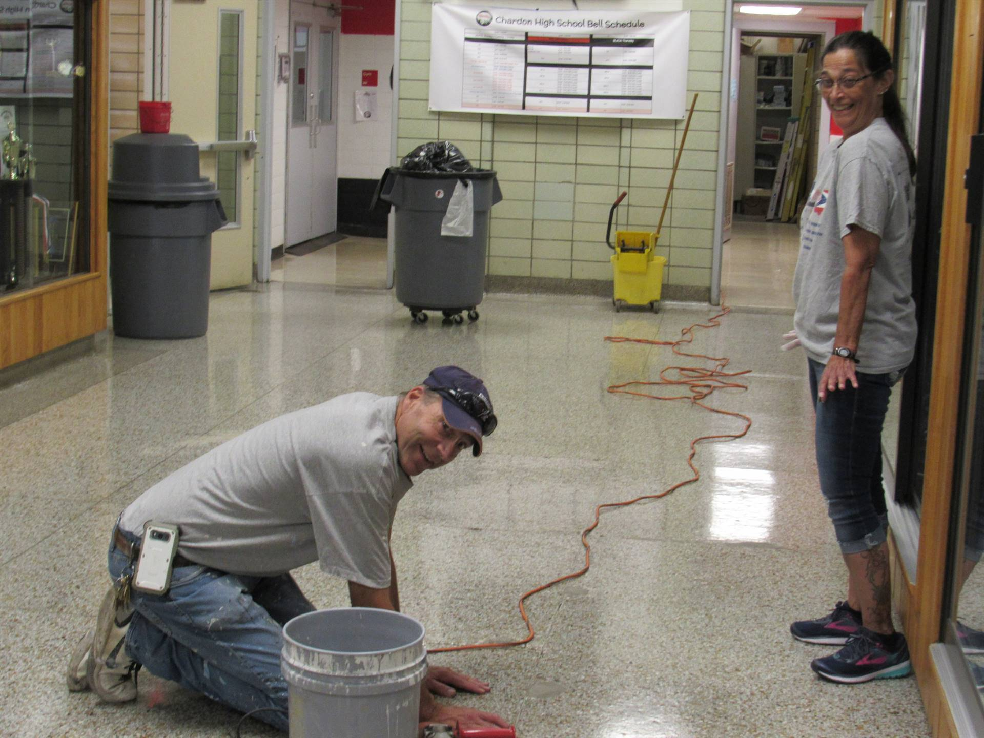 Custodial and Maintenance Staff Members at Chardon High School