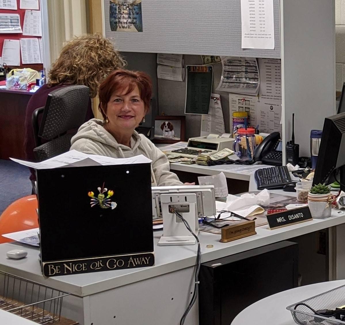 CMS Secretarial Staff Member Ms. DiSanto