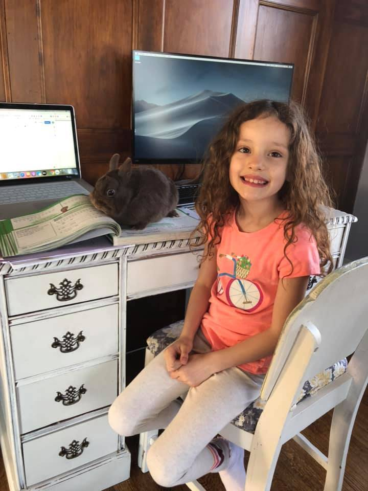 Park Elementary Student engaged in Remote Learning