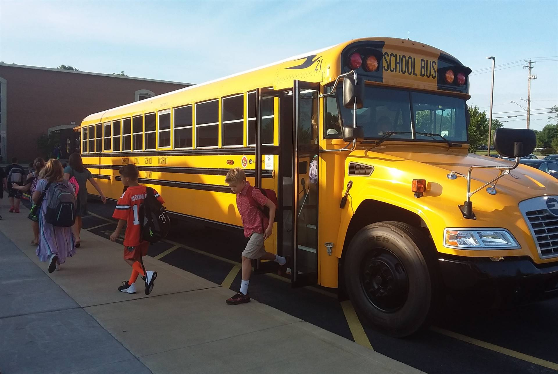 First Day of School 2019-20 - Bus Drop-off at CMS in A.M.
