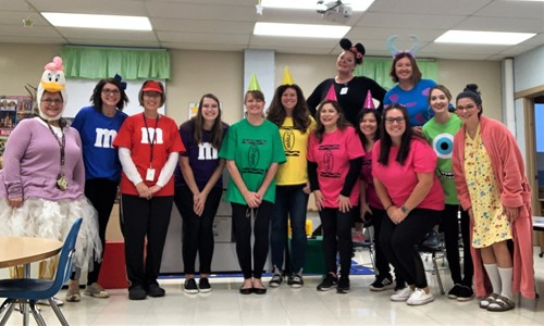 Preschool Staff at Halloween